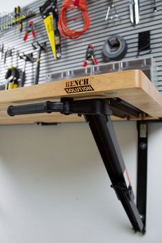 Folding Garage Workbench | Space Saving Ideas | Bench Solution                                                                                                                                                     More