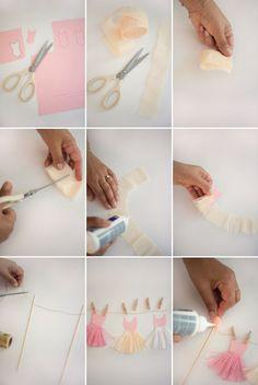 Ballerina Tutu Cake Topper DIY