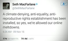 not a Seth MacFarlane fan but i like this tweet