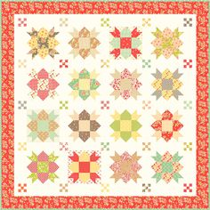 Star Crossed pattern with Strawberry Fields revisited fabrics