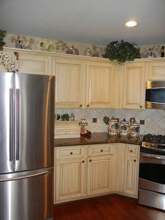 Cabinets painted and glazed by Karla Boddie