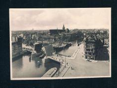"Russland,Kaliningrad,KÖNIGSBERG ""Holzbrücke vor Kneiphofinsel"" 1938 / Ostpreußen"