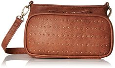 Women's Cross-Body Handbags - BIG BUDDHA Pulse Cross Body Cognac One Size * Check out the image by visiting the link.