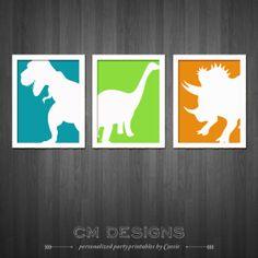 Dinosaur Wall Art by DesignsbyCassieCM on Etsy, $10.99
