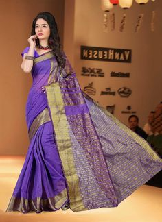 Indian ethnic wear online shopping site. Buy wedding designer sarees. Shop this pleasance cotton   casual saree for casual and party.
