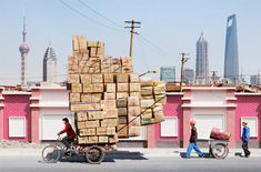 Amazing Chinese Bicycle Couriers
