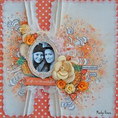 My Creative Scrapbook-January LE kit by Marilyn Rivera Scrapbook Page Layouts, Scrapbook Pages, Scrapbook Kit, Mixed Media Scrapbooking, Scrapbooking Ideas, Image Layout, Life Is Beautiful, Making Ideas, Card Making