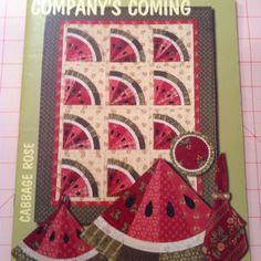 patterns to make: Sweet Pansy, Watermelon Quilt, Watermelon Placemats, Potholders & Coasters Cute Quilts, Small Quilts, Mini Quilts, Baby Quilts, Quilted Table Toppers, Quilted Table Runners, Watermelon Quilt, Quilting Designs, Quilting Ideas