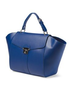 Made In Italy Leather Wing Tote - Handbags - T.J.Maxx
