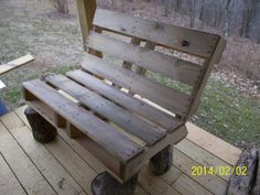 Stan's first attempt to build a fire-pit bench from a pallet
