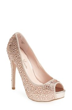 Super glam crystal pump.