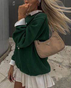 Adrette Outfits, Indie Outfits, Retro Outfits, Cute Casual Outfits, Fall Outfits, Fashion Outfits, Green Outfits, Aesthetic Fashion, Look Fashion