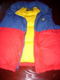 0e394d881bc73 Sweet VINTAGE POLO RALPH LAUREN Down Vest Mens SKI UNI Crest VTG Snow Beach  Color.