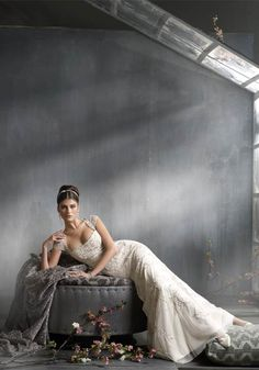bridal-bride-dress-gown-gray-ivory-Favim.com-86882