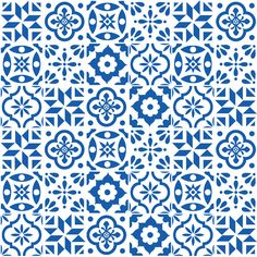 Spanish Tile pattern fabric from spoonflower by elizajanecurtis