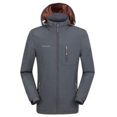 7216d70bddf6d Facecozy Men Windproof Jackets 1 Layer Hooded Thin Breathable Coat Male.  Fishing JacketOutdoor JacketsHikingCampingTechnologyAutumnSports TypeSweatshirt