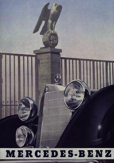 """Third Reich Mercedes Benz propaganda poster Anzeige in der Zeitschrift """"Der Vierjahresplan"""", 20. Februar 1940"""