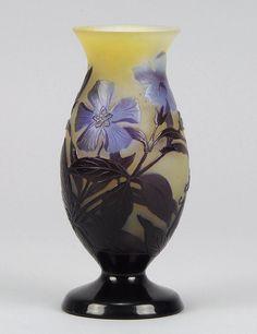 Émile Gallé   Flowering Pansy Cameo Vase - 1900.