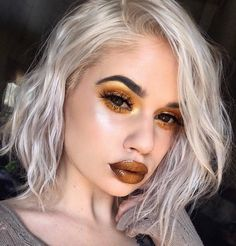 """8,575 Likes, 95 Comments - Lauren Rohrer (@laurenrohrer) on Instagram: """"Amber is the color of your energy #lips @maccosmetics new Metallic Lipstick in Act So Cool…"""""""