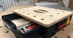 """2012 habe ich bereits den """"Mobilen Werktisch für die L-Boxx vorgestellt. Jetzt habe ich diesen komplett neu aufgelegt und Holzwurm..."""