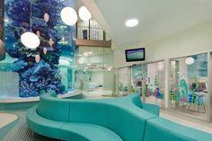 The Royal Children's Hospital. Love all the turquoise plus the giant aquarium---or aquariYUM!  jg