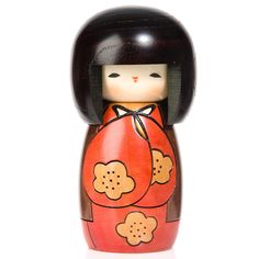 Lucky Day Red Kokeshi Doll