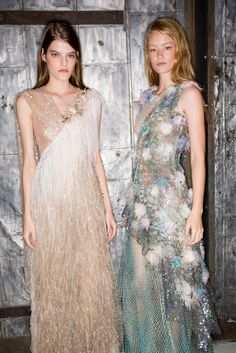 Tidal Cool - A pair of seaside sylphs, spotted backstage at Rodarte.