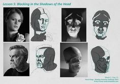 For the month of September I'm taking part in Pencil Kings Shading Drawing Challenge, with instruction from the lovely Diane Kraus. You can see Diane's work on her website www. Face Anatomy, Anatomy Drawing, Shadow Illustration, Cute Illustration, Planes Of The Face, Shadow Portraits, Shading Drawing, Face Structure, Charcoal Art