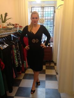 Stephanie in a black long sleeve dress from Glamour Bunny <3 Mondo Kaos