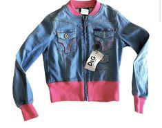 Dolce&Gabbana Light Denim and Pink Giubbotto Jacket Size 8 (M) Dolce And Gabbana Jeans, Denim Bomber Jacket, Love Jeans, Jean Jackets, Casual, Fashion Design, Pink, Ebay, Women