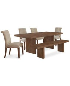 Madina 6-Pc. Dining Set (Dining Table, 4 Chairs and Bench) | macys.com