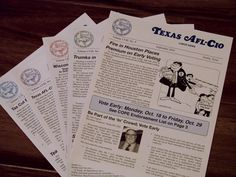 I did the layout for the AFL-CIO newsletters for months. It was an enjoyable experience.