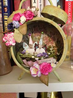 Two Mad Dahlias: Assemblage Clock Compendium of Curiosities Challenge 10