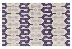L'Alhambra Flat-Weave Rug, Mulberry on OneKingsLane.com