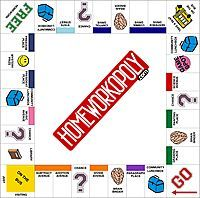 Downloadable bulletin board - In order for a student to play the game, he or she must complete their homework from the night before and hand it in to the teacher. This is how the student moves around the game board. If the student does not have their homework finished, they don't get their chance to shake the die and move for the day. Instructions are on the site - great idea!