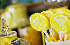 Candy bar additions....yellow lollipops love them
