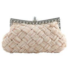 Elegant Basketweave Evening Clutch