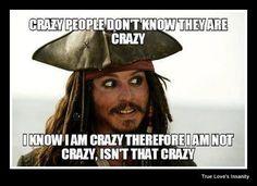 Johnny Depp as Jack Sparrow.sorry, Captain Jack Sparrow in Pirates of the Caribbean. Jack Sparrow Quotes, Jack Sparrow Funny, Citations Film, Zack E Cody, Captain Jack, Crazy People, Pirates Of The Caribbean, I Laughed, Funny Jokes