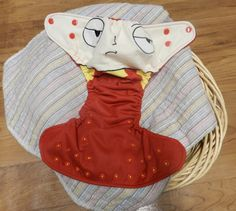 "Custom Made to Order Slot for ""Stewie"" OS Pocket Cloth Diaper"