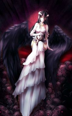 albedo art from overlord,amazing art. Albedo, Fantasy Characters, Anime Characters, Demon Manga, Anime Pictures, Fanart, Anime Group, Gif Animé, Chica Anime Manga