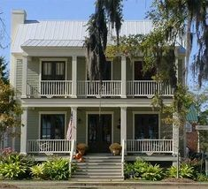 Plan W9738AL: Plantation Style, Traditional, Narrow Lot, Southern House Plans & Home Designs