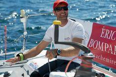 Notre skipper Jérémie Beyou en pleine préparation de la Solitaire du Figaro du 2 juin prochain