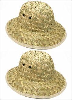 3978b5b5ff3e9 GiftExpress Adult Woven Safari Pith Hat 1 set of 2