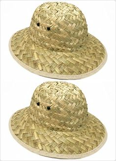 159f966e61969 GiftExpress Adult Woven Safari Pith Hat 1 set of 2