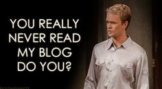 This is how you are with your blog