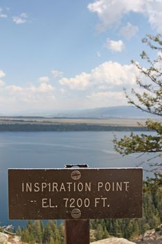 Jenny Lake to Inspiration Point in Grand Teton. Got our pic taken here!