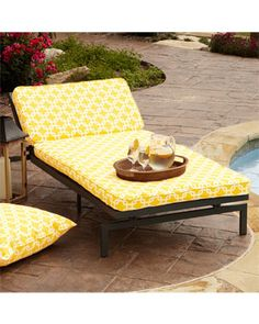 1000 images about patio black white yellow on for Alyssa outdoor chaise