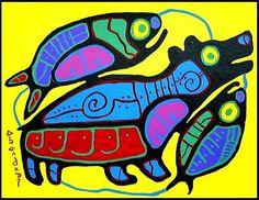 Norval MorrisseauNorval Morrisseau for canvas master copy Aboriginal Artists, Aboriginal Education, Arte Tribal, Woodland Art, Native American Artwork, Atelier D Art, Les Religions, Canadian Art, Indigenous Art