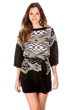3d9bdbd4aa Gottex Women's Alexandria Dress Swim Cover Up Black/White S Gottex http://