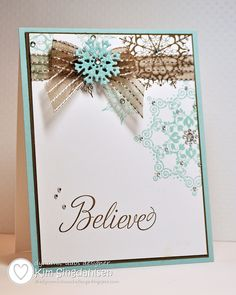 Believe by atsamom, via Flickr.  Created for color challenge at the Dynamic Duos blog.  All supplies by Stampin' Up.